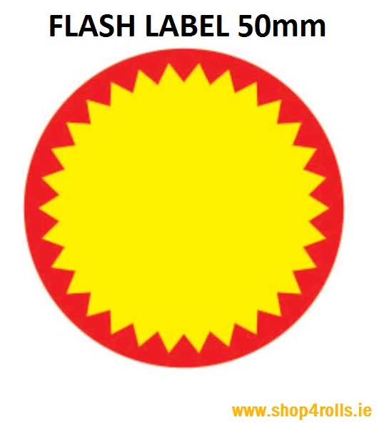 Zebra Thermal Flash Labels - 50mm Diameter 1000 labels per roll